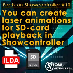 You can create laser animations for SD-card playback in Showcontroller
