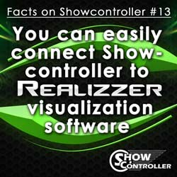 You can easily connect Showcontroller to REALIZZER 3D visualization software
