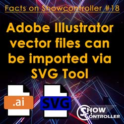 Adobe Illustrator vector files can be imported via SVG Tool
