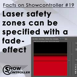 Laser safety zones can be specified with a fade-effect