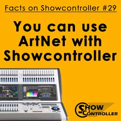 You can use ArtNet with Showcontroller