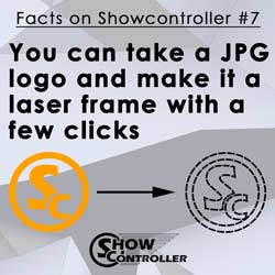 You can take a JPG logo and make it a laser frame with a few clicks